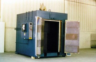 Walk-in Oven is used for heat-treating steel parts.