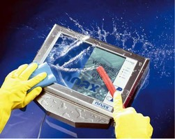 Touch Screen PC withstands harsh washdown environments.