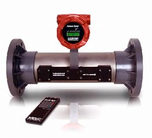 Ultrasonic Flowmeter provides 0.5% of reading accuracy.