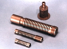 Machined Spring can be made of 7075-T6 aluminum and Delrin.