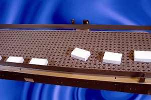 Angled Roller Belt Conveyor features modular design.