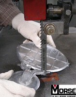 Band Saw Blades feature carbide tips.