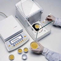 Microbalance provides 31 g capacity and 1 µg readability.
