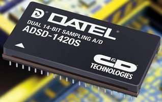 Dual 14-Bit ADCs suit industrial and military applications.