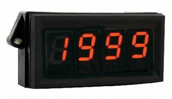 Digital Panel Meter accepts 0-5 or 0-10 Vdc input signal.