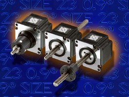 Linear Actuators provide 0.9 degree step angle.