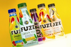 Fuze® Launches Eight Varieties in Custom PowerFlex(TM) PET Bottles from Amcor