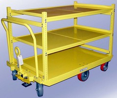 Parts Delivery Cart can navigate narrow aisles.