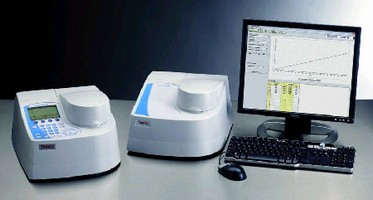 Spectrophotometer features fixed 1.0 nm bandwidth.