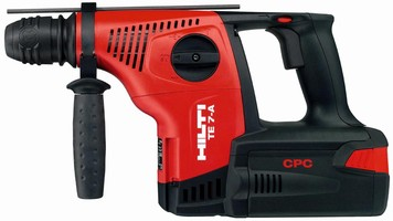 Cordless Rotary Hammer Drill also has chiseling function.