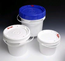 Tamper-Evident Pails range in size from 0.5-11 gallons.
