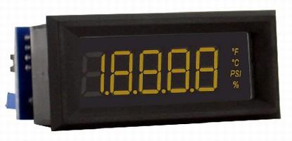 Digital Panel Meter accepts 4-20 mA input signals.