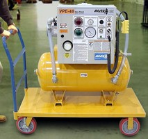 Mobile Vacuum Station can be moved to process as needed.