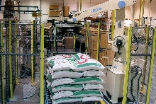 Palletizing System handles heavy bags.