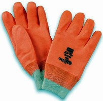 Work Gloves have high-visibility design for wearer safety.