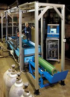 Cylinder Scanning System detects faults and thickness.