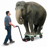 Cordless, Battery-Powered Cart Mover