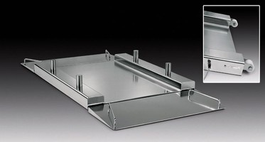 Sartorius MoveLine Flat-bed Scale Platform Provides Complete Access for Cleaning In Hygienic Areas
