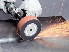 Pneumatic Wheel handles heavy-duty grinding applications.