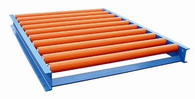 Conveyors feature poly covered rollers.
