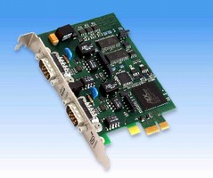 Interface Board features 1 or 2 CAN channels.