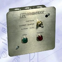Switches enable testing of motorized life safety dampers.