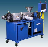 Twin-Screw Extruder is suited for research/laboratory use.