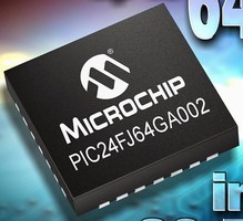Microcontrollers offer up to 64 Kb Flash in 28-pin packages.