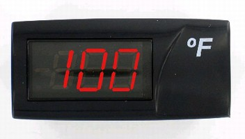 Indicator lets user monitor temperature or process value.