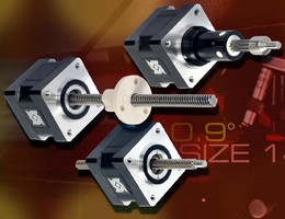 High-Resolution Linear Actuators feature 0.9° step angle.