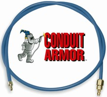 Weld Wire Conduit is protected against spatter damage.
