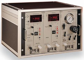 Gas Standards Generator utilizes modular, 2-stage dilution.