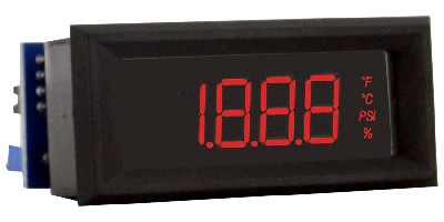 Digital Panel Meter can be read from a distance.