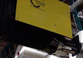 Forklift Attachment lends total visibility to spool load.