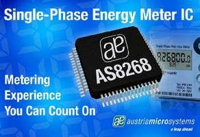 Energy Metering IC includes embedded Flash memory.