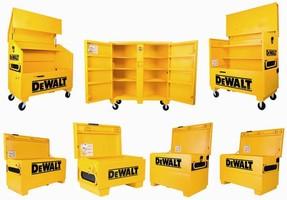 Job Site Storage Boxes feature heavy-duty construction.