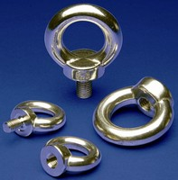 Metric Eye Bolts and Eye Nuts are made of stainless steel.