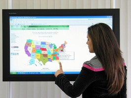 Touch Screen LCD Monitor features 42 in. wide-screen.