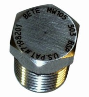 Misting Nozzles feature rugged, pinless design.