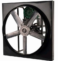Panel Fan uses V-belt drives for low speed operation.