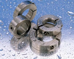 Stainless Steel Shaft Collars resist corrosion.