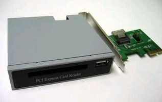 PCIe/PCI Adapter supports 5 Gb/s 34/54 mm ExpressCard.