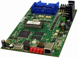 Quad-Axis Step Motor Controller features USB interface.