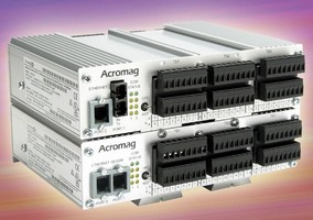 Ethernet I/O Devices process 32 inputs and 16 outputs.