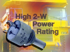 Panel Potentiometer features 2 W power rating.