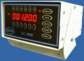 Length/Process Control System has built-in batch control.