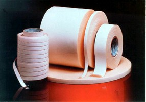 Pressure-Sensitive Tape provides uniform bond.