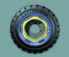 Solid Pneumatic Tires does not require a press for installation.