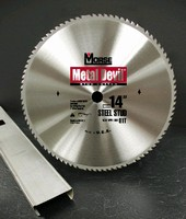 Circular Saw Blade cuts steel studs.