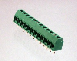 Terminal Blocks feature low profile and angled wire entry.